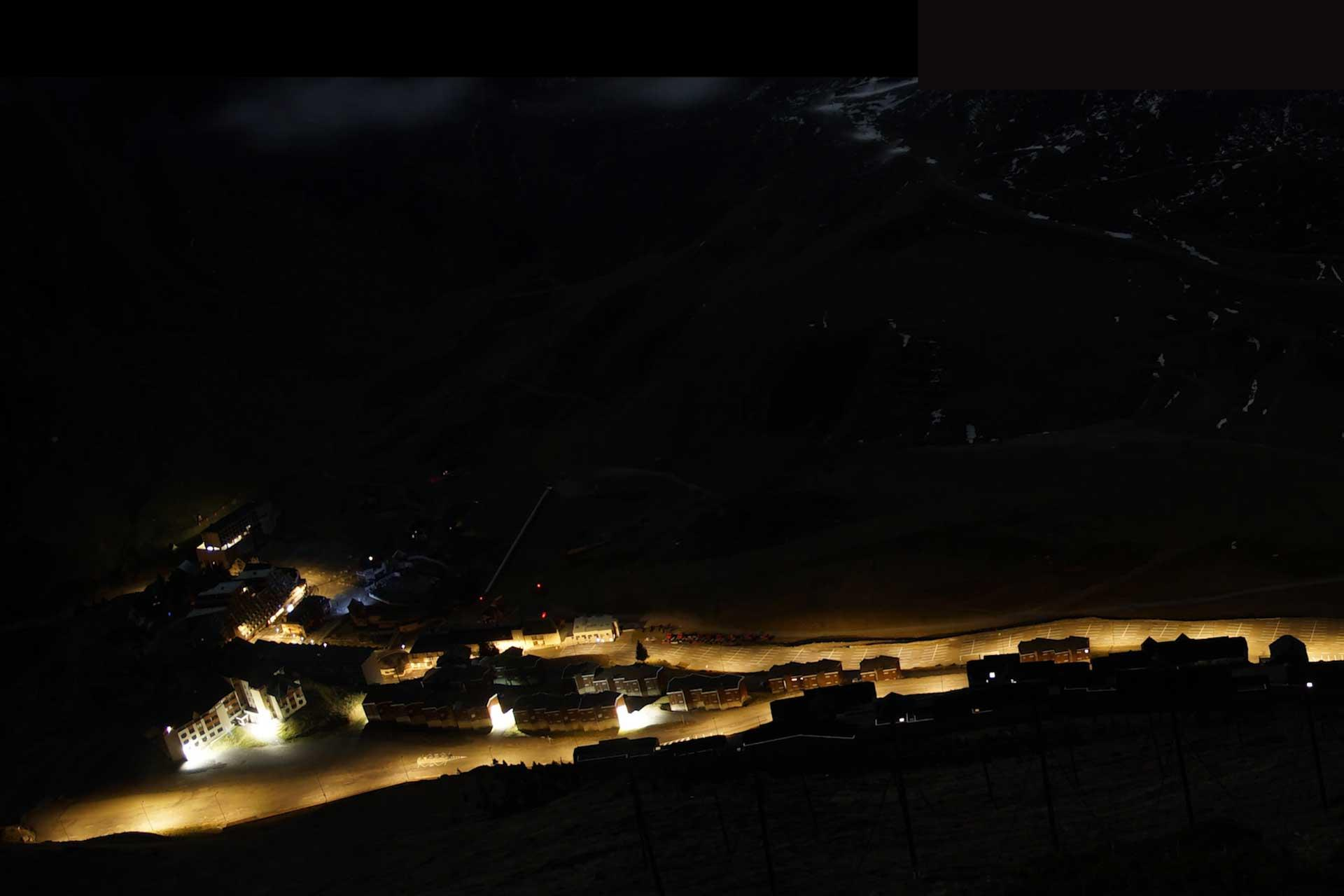 Smart lighting solution enables the town of La Mongie to dim the light so astronomers can appreciate the fully beauty of the sky above Pic du Midi in France